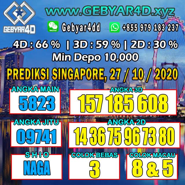 PREDIKSI SINGAPORE , 24-OKTOBER-2020 GEBYAR4D